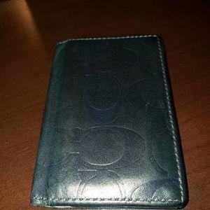 Used mens Coach bi-fold wallet